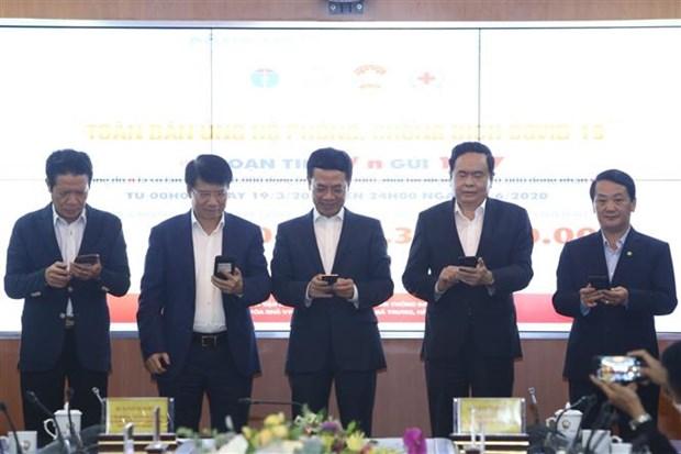 越南启动1407短信募捐活动 为新冠肺炎疫情防控工作捐款 hinh anh 3