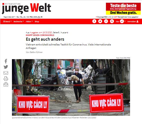 新冠肺炎疫情:德国媒体歌颂越南主动采取强有力措施应对疫情 hinh anh 1