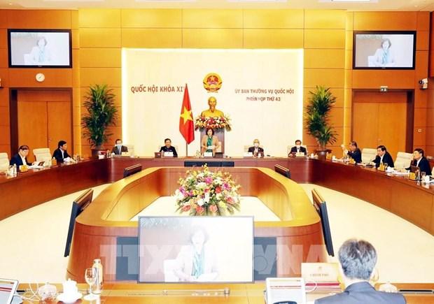 越南国会常务委员会第43次会议开幕 听取有关疫情防控工作报告 hinh anh 1
