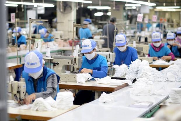 越南纺织服装集团向市场供应抗菌口罩超过3800万只 hinh anh 1