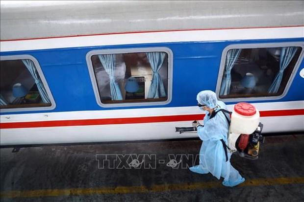 新冠肺炎疫情:自3月26日起越南南北统一列车SE9和SE10 暂停运营 hinh anh 1