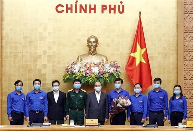 阮春福总理:大力调动青年团员参与新冠肺炎防控工作力度 hinh anh 1