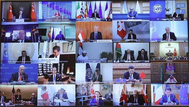 二十国集团峰会历史上首次视频峰会开幕 hinh anh 1