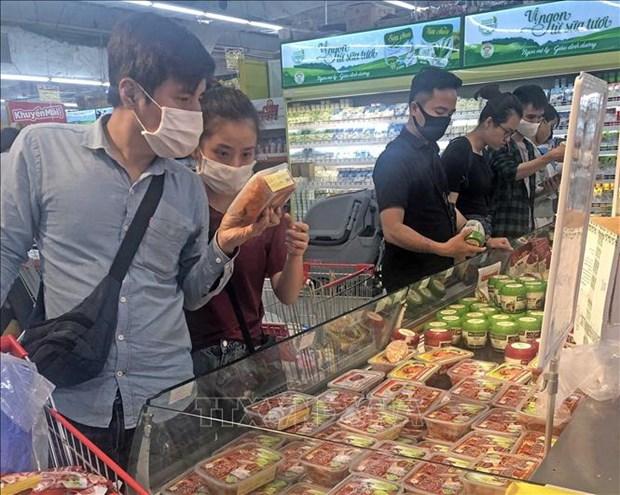 新冠肺炎疫情:河内市注重生产,保障市场供应 hinh anh 1