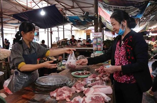 政府总理阮春福敦促采取市场措施使猪肉价格回到正轨 hinh anh 1