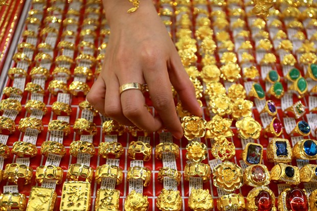 越南国内黄金价格达4800万越盾左右 hinh anh 1