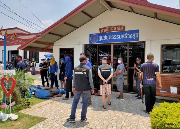 泰国:武里南府监狱发生暴动 许多囚犯已越狱外逃 hinh anh 1