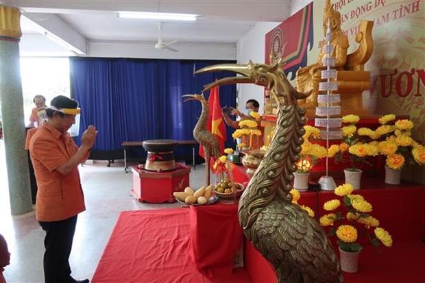 旅居泰国乌隆府越南侨胞举行雄王始祖祭祀仪式 hinh anh 2