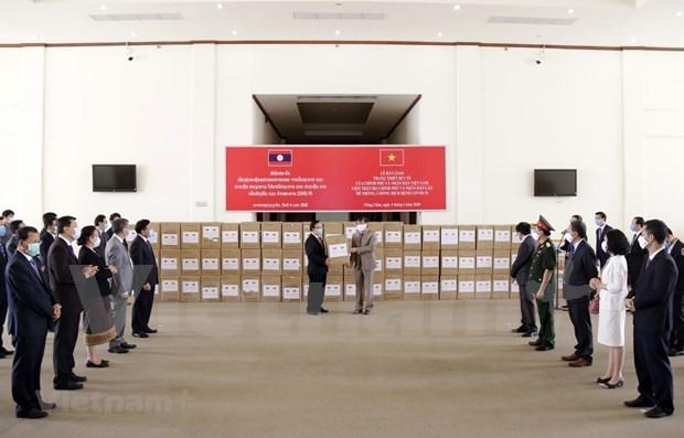 新冠肺炎疫情:老挝高度评价越南提供的援助 hinh anh 1