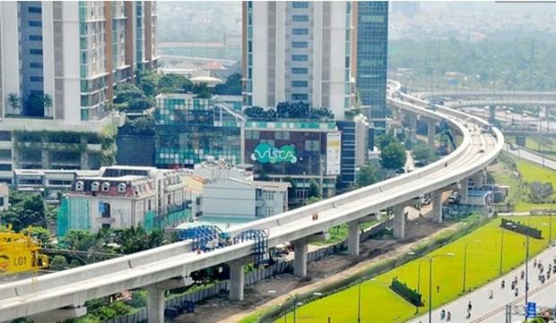 胡志明市槟城-仙泉地铁一号线项目完成率达70% hinh anh 1