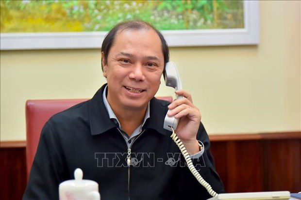 越南外交部副部长阮国勇同澳大利亚外交部代理副部长通电话 hinh anh 1