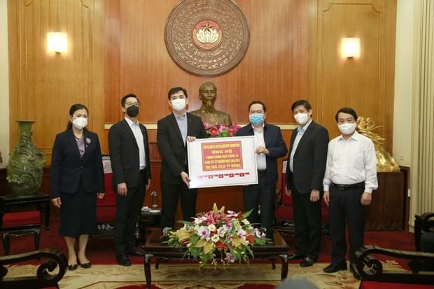 越南卫生部接收凯德集团赠予的新冠病毒检测设备 hinh anh 1