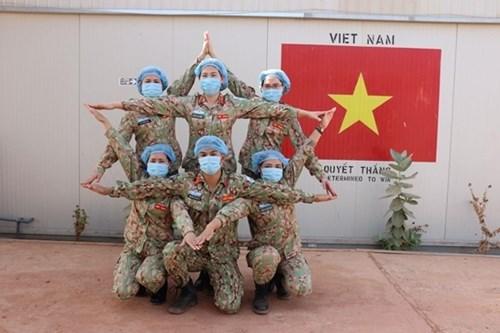 越南维和部队主动防控疫情 hinh anh 2