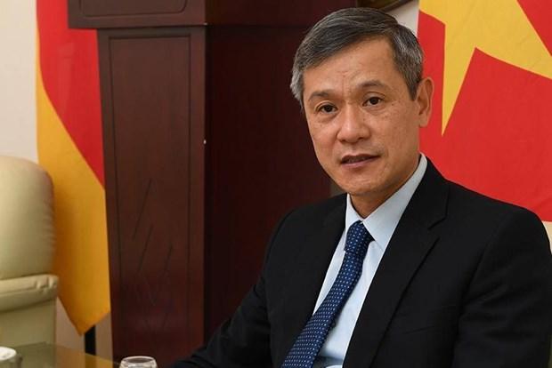 旅德和旅捷越南人同驻在国人民和政府携手努力应对疫情 hinh anh 1