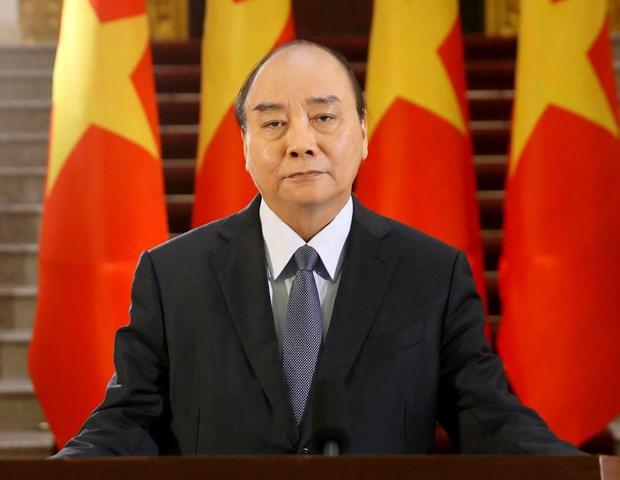 """政府总理阮春福:""""大努力""""和""""大团结""""是战胜疫情的关键 hinh anh 1"""
