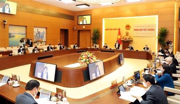 越南国会常委会召开特别会议 讨论援助遭受新冠肺炎疫情影响的居民问题 hinh anh 2