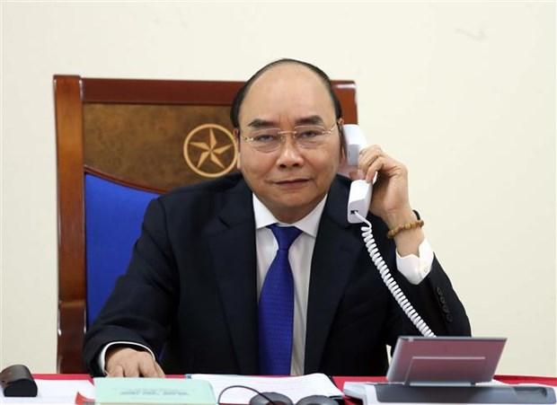 越南政府总理阮春福与澳大利亚总理通电话 hinh anh 1