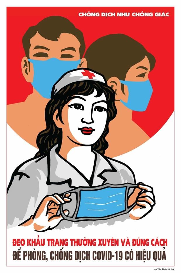英国《卫报》对越南新冠肺炎疫情防控宣传海报给予称赞 hinh anh 3