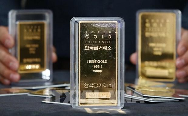 越南国内黄金价格上涨50万越盾 hinh anh 1