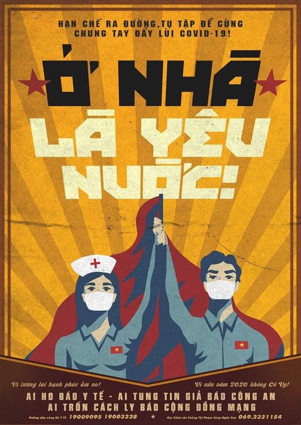 英国《卫报》对越南新冠肺炎疫情防控宣传海报给予称赞 hinh anh 1