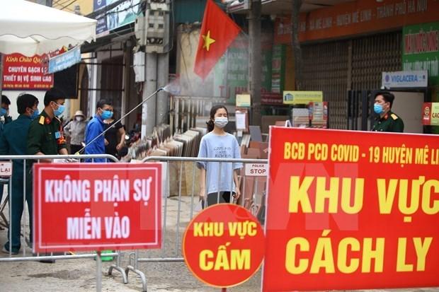 新冠肺炎疫情:河内市新增15个快速反应队尽快消除夏雷村疫区病毒 hinh anh 1