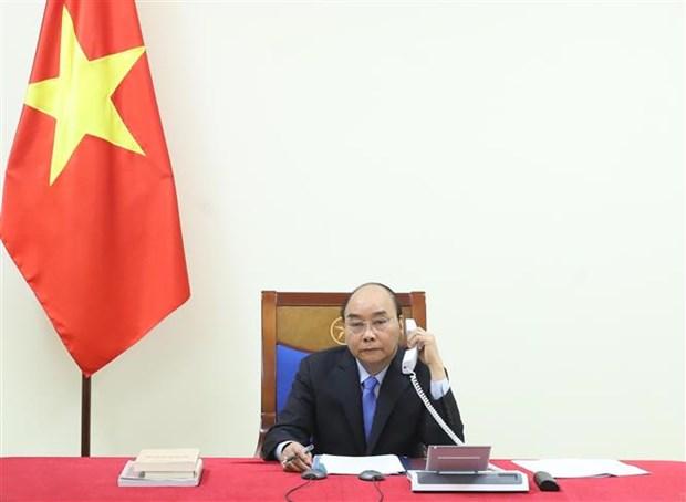 越南政府总理阮春福与印度总理就新冠肺炎疫情防控合作通电话 hinh anh 1
