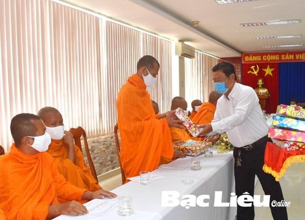 薄辽省高棉族同胞遵守防疫规定 喜迎传统新年 hinh anh 1