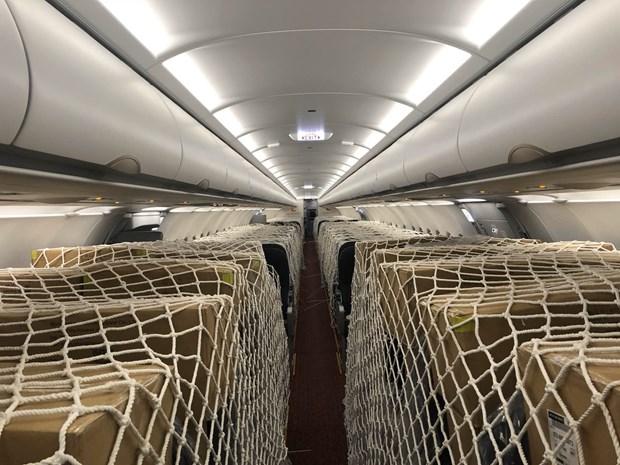 越捷航空在实施社会隔离期间仍执行定期客运航班和货运航班 hinh anh 1