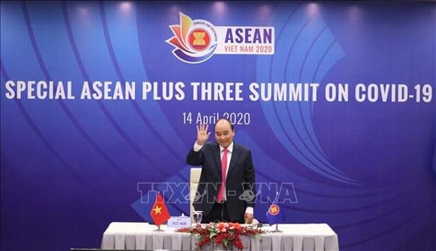 东盟与中日韩发表关于抗击新冠肺炎疫情领导人特别会议的联合声明 hinh anh 1