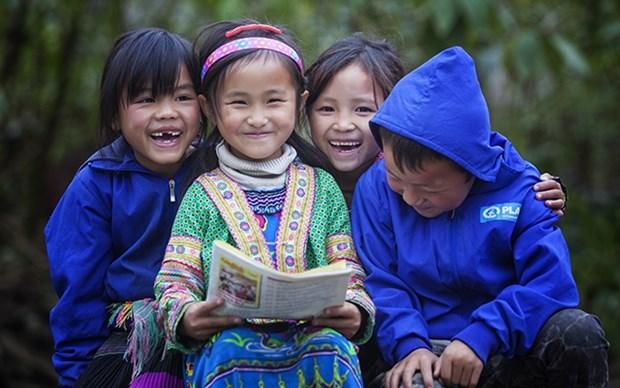 越南国际计划组织助力少数民族儿童免受疫情的影响 hinh anh 1