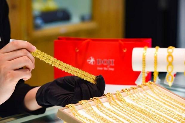 越南国内黄金价格超过4800万越盾 hinh anh 1