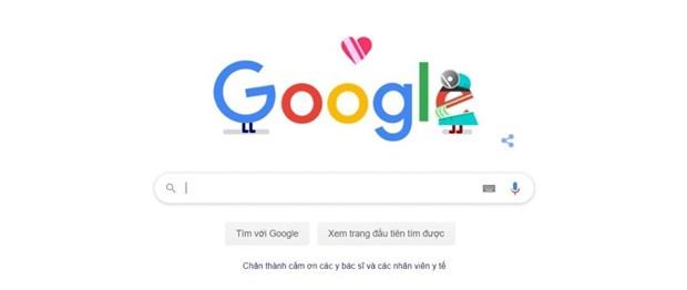谷歌涂鸦向抗击新冠肺炎疫情一线英雄表达感恩之心 hinh anh 1