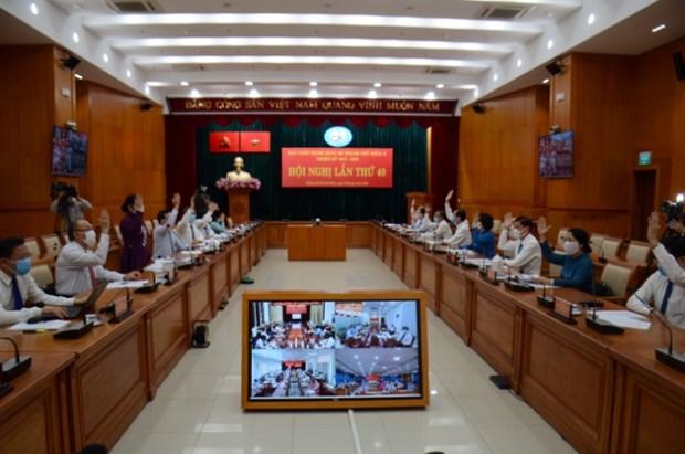越共胡志明市第十届委员会第四十次全体会议开幕 hinh anh 1