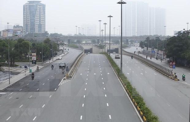 河内市保持社会距离措施延长至4月22日 hinh anh 2