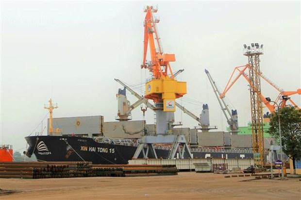 海防港迎接3艘大型货船进港 hinh anh 3