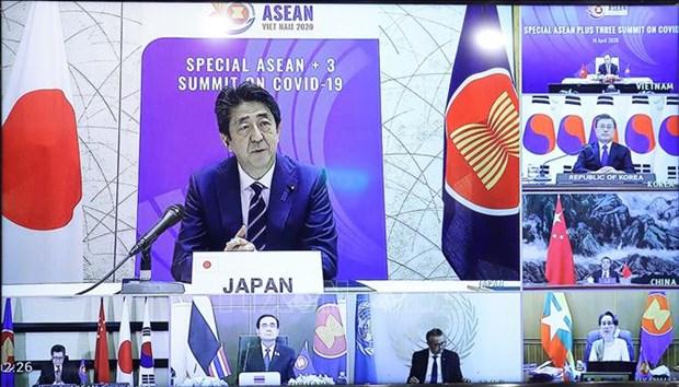 日本:东盟与中日韩加强应对新冠肺炎疫情的合作具有重要的意义 hinh anh 1