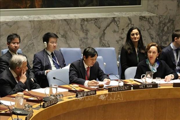 越南尽早完成联合国安理会轮值主席国任期报告 hinh anh 1