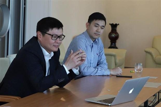 """题为""""新冠肺炎疫情期间旅居德国越南人""""的视频研讨会在德国举行 hinh anh 1"""