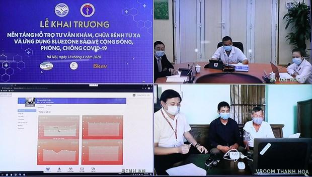 越南远程看病治疗支持平台与疫情防控应用程序正式上线 有效助力疫情防控工作 hinh anh 2