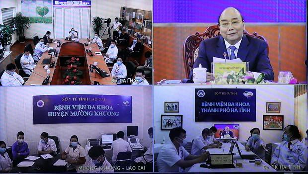 越南远程看病治疗支持平台与疫情防控应用程序正式上线 有效助力疫情防控工作 hinh anh 1