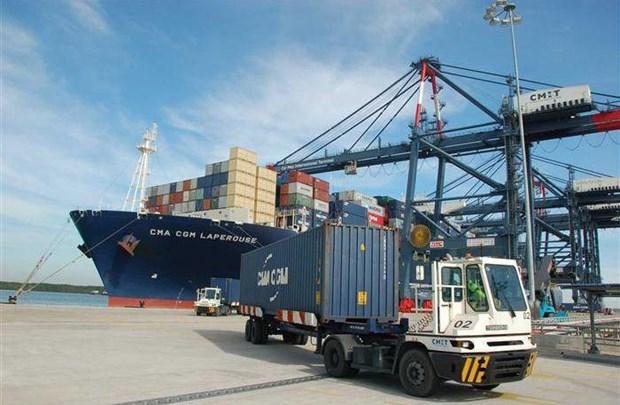 新冠肺炎疫情:巴地头顿进出港国际船舶数量仍然增加 hinh anh 1