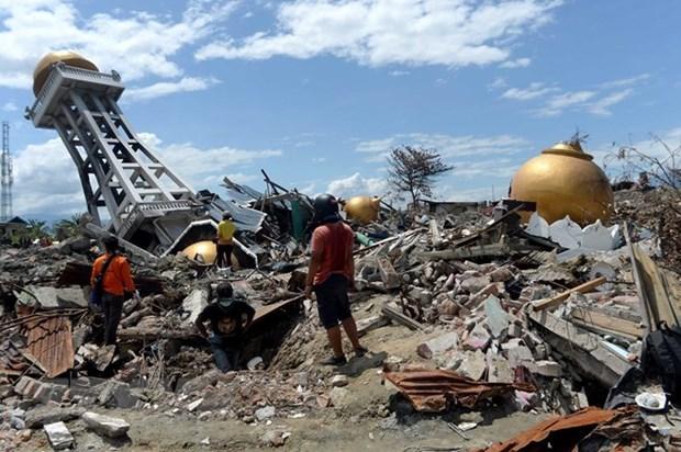 东盟继续援助印度尼西亚的地震海啸灾民 hinh anh 1
