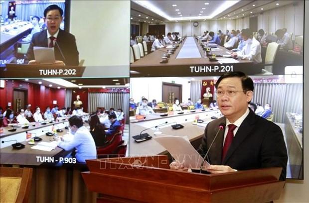 河内市委召开会议聚焦促进首都经济社会发展对策问题 hinh anh 1
