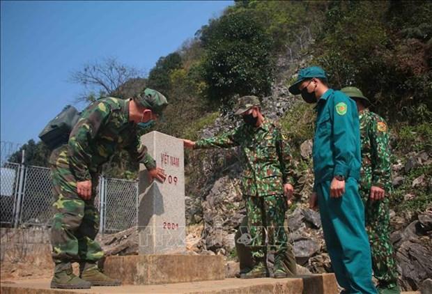 高平省边防部队加固防疫线 全力守护人民健康安全 hinh anh 1