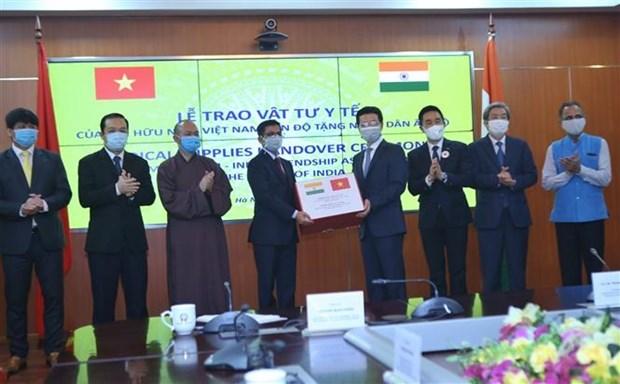 越南与印度友好协会向印度人民捐赠10万只抗菌口罩 hinh anh 2
