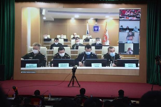 越俄两国国防部加强新冠肺炎疫情防控的合作 hinh anh 1
