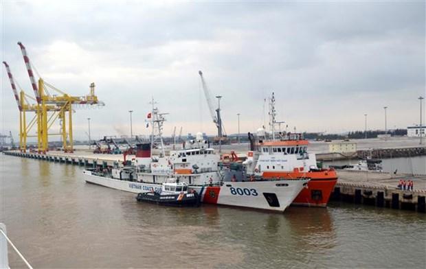 越中2020年首次北部湾共同渔区海上联合检查行动圆满结束 hinh anh 2