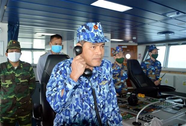 越中2020年首次北部湾共同渔区海上联合检查行动圆满结束 hinh anh 1