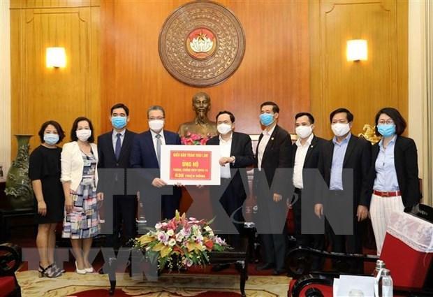 旅居泰国和韩国越南人援助越南新冠肺炎疫情防控战役 hinh anh 1