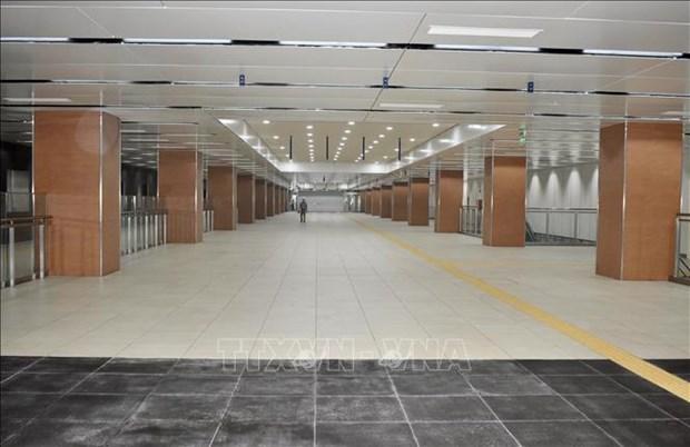 胡志明市市内地铁一号线市剧院站B1层基本竣工 hinh anh 2